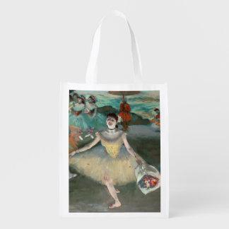 Sac Réutilisable Danseur d'Edgar Degas | avec le bouquet, faisant