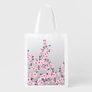 Sac réutilisable de fleurs de cerisier florales