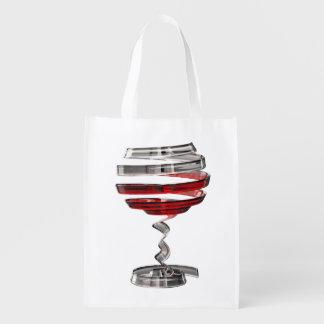 Sac Réutilisable De sac d'épicerie réutilisable étrange en verre de