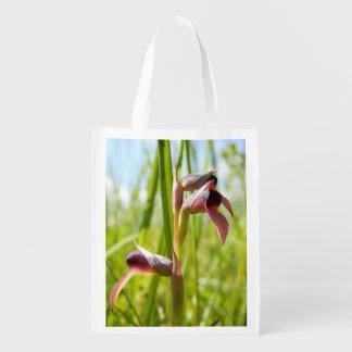 Sac réutilisable d'orchidée de langue