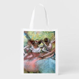 Sac Réutilisable Edgar Degas   quatre ballerines sur l'étape