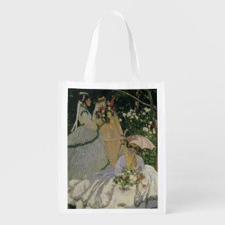 Sac Réutilisable Femmes de Claude Monet | dans le jardin