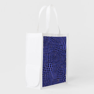 Sac Réutilisable Filet de scintillement en métal, bleu