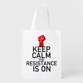 Sac Réutilisable Gardez le calme que la résistance est allumé