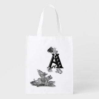 Sac Réutilisable Gargouille de Golem et logo d'ArtKSZP