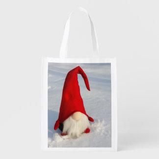 Sac Réutilisable Gnome scandinave de Noël