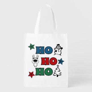 Sac Réutilisable Ho-Ho-Ho conception de Noël