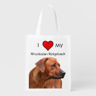 Sac Réutilisable I love my Rhodesian Ridgeback la trousse