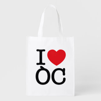 "Sac réutilisable ""I Love Oc"""