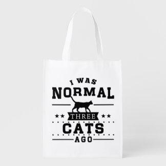 Sac Réutilisable J'étais il y a les trois chats normaux