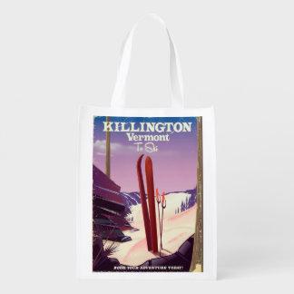 Sac Réutilisable Killington, copie de voyage de ski du Vermont