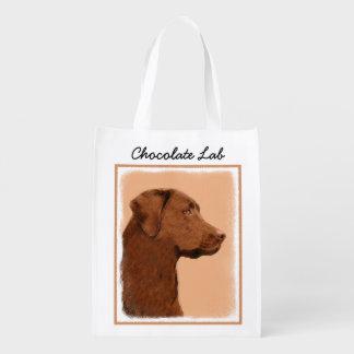 Sac Réutilisable Labrador retriever (chocolat)