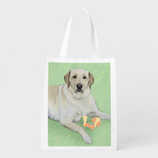 Sac Réutilisable Labrador retriever (jaune)