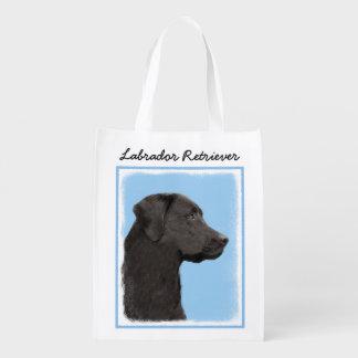 Sac Réutilisable Labrador retriever (noir)