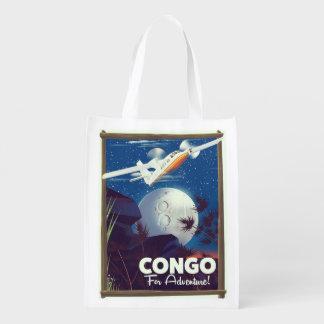 Sac Réutilisable Le Congo pour l'aventure ! affiche de voyage