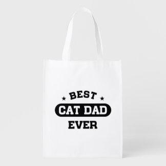 Sac Réutilisable Le meilleur papa de chat jamais