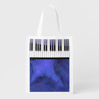 Sac Réutilisable Le piano verrouille la torsion moderne de musique