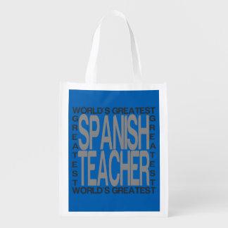 Sac Réutilisable Le plus grand professeur espagnol des mondes