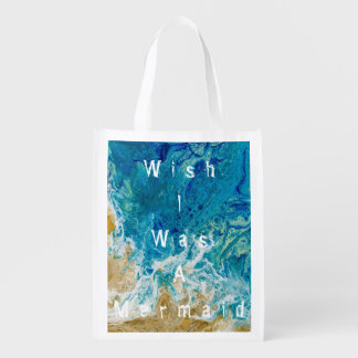 Sac Réutilisable Le souhait I était un sac de sirène