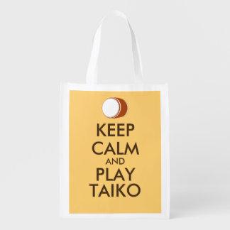 Sac Réutilisable Les cadeaux de Taiko gardent la coutume de tambour