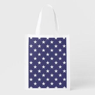 Sac Réutilisable Les Etats-Unis marquent les étoiles blanches sur