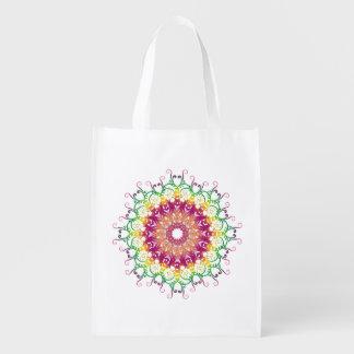 Sac Réutilisable Mandala floral ethnique