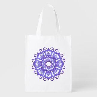 Sac Réutilisable Mandala. violet floral