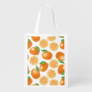 Sac Réutilisable Mandarines d'aquarelle