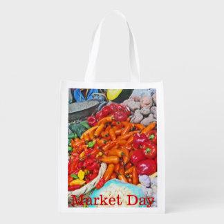 Sac Réutilisable Marché organique - ciel de fin gourmet - piments