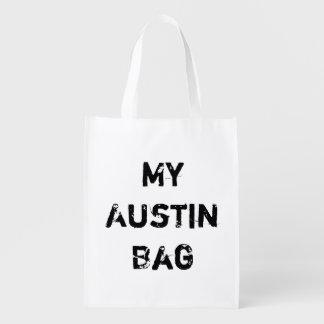 Sac Réutilisable Mon épicerie réutilisable d'Austin TX aucune ville