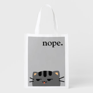 Sac Réutilisable Nope Kitty