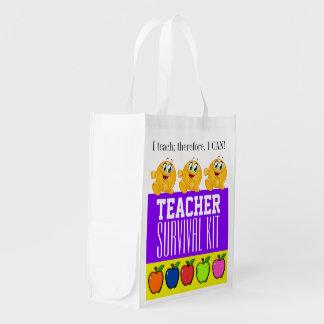 Sac Réutilisable NOUVELLE trousse de survie de professeur -