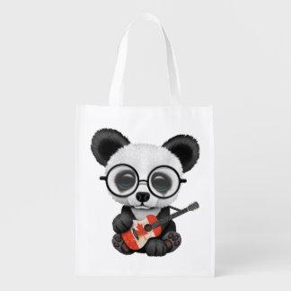 Sac Réutilisable Panda de bébé jouant la guitare canadienne de