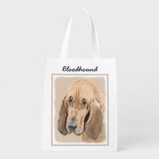 Sac Réutilisable Peinture de limier - art original mignon de chien