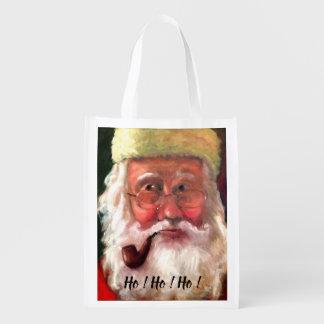 Sac Réutilisable Père Noël et sac à provisions de Mme Claus