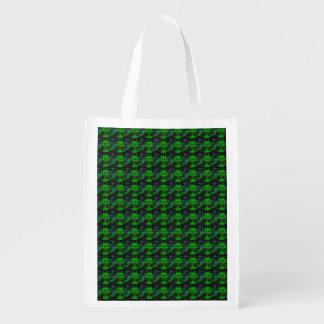 Sac Réutilisable Petit diable vert - motif abstrait dans Retrolook