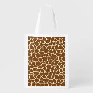 Sac Réutilisable Poster de animal sauvage de motif de girafe