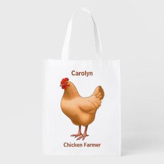 Sac Réutilisable Poule de couleur chamois de poulet d'Orpington