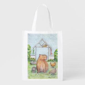 Sac Réutilisable Ratière le sac à provisions de capybara