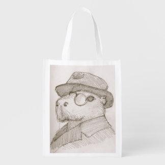 Sac Réutilisable Ratière le sac à provisions de capybara, le