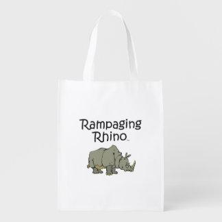 Sac Réutilisable Rhinocéros de saccage de PIÈCE EN T