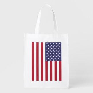 Sac Réutilisable Sac d'épicerie de Reuseable de drapeau américain