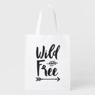 Sac réutilisable sauvage et libre sacs d'épicerie