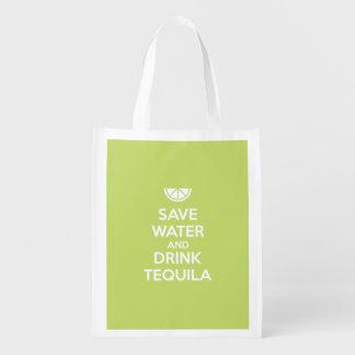 Sac Réutilisable Sauvez l'eau et buvez la tequila