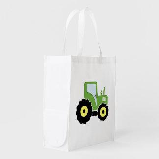 Sac Réutilisable Tracteur vert de jouet