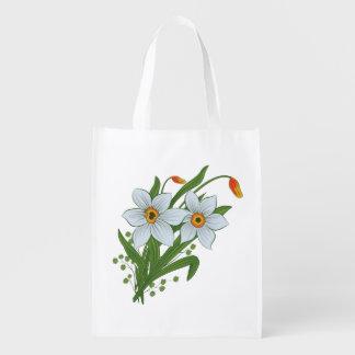 Sac Réutilisable Tulipes et fleurs de jonquilles