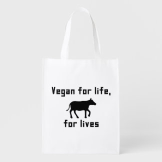 Sac Réutilisable Végétalien pendant la vie