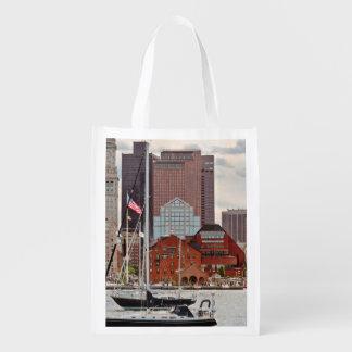 Sac Réutilisable Ville - Boston mA - horizon de promenade de port