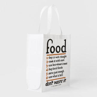 """Sac Réutilisable WWI """"déchets de Nourriture-Don't il"""" sac"""