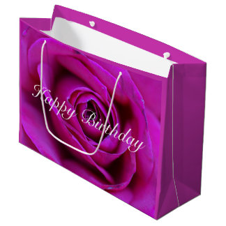 Sac rose de cadeau de joyeux anniversaire
